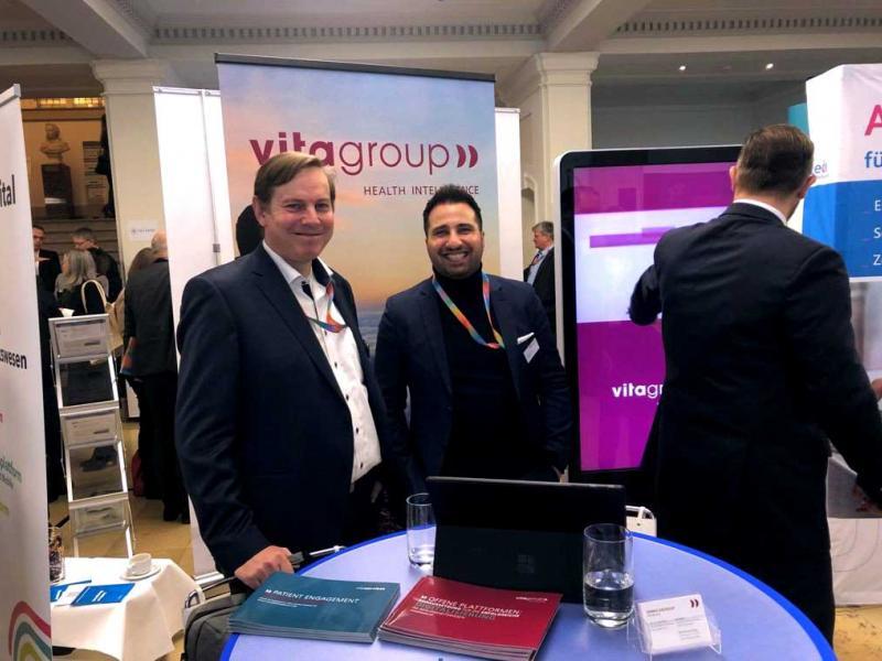 vitagroup auf dem BMC Kongress. Bild vom vitagroup Stand